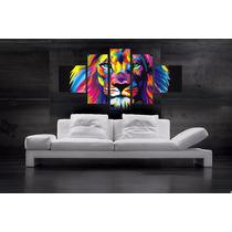 Quadro Leão Aquarela Lion King Decorativo Moderno Luxo Decor