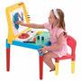 Mesa Do Pequeno Artista Com Quadro E Cadeira Bell Toy 9052