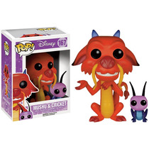 Mushu & Cricket Película Disney Mulan Funko Pop