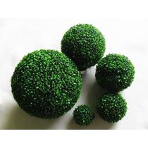 Topiario 15cm Esfera Bola Follaje Sintético Decoración