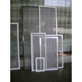 Mosquiteros De Aluminio Fijos Corredizos C/guia Y De Abrir