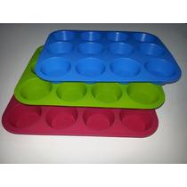 Molde De Silicona Para Muffins Cupcakes X12 - Levysbazar