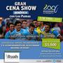 Entrada Cena Show Benéfica Con Los Pumas