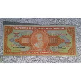 Nota 1000 Cruzeiros Estampa 2ª Série 1579ª 027124 Bom Estado