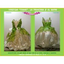 Vestido Princesa Y El Sapo Tiana Hermoso Disfraz Calidad100%