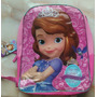 Morral Escolar Bolso Princesa Sofia Original Disney Junior