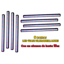 Steelpro Kit 8 Barras + Case Led Rgb, 8 Secciones, 240 Leds