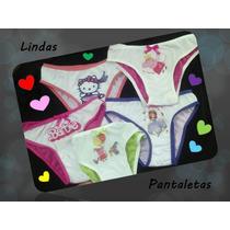 Pantaletas Niñas Pepa, Princesa Sofia, Minie, Pony, Barbie