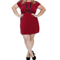 Vestido Feminino Recorte Em Renda Plus Size T.48! Novo
