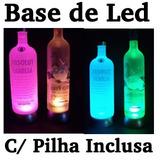 Oferta Base De Led Luminosa C/ Pilhas - Vodka, Cristais