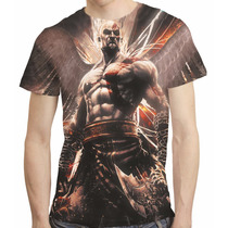 Camisa Game God Of War Camiseta Kratos - Estampa Total Mod 5