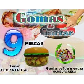 Gomas De Borrar Con Olor - Hamburguesa - 9pzs