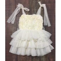 Vestido De Bebe Niña Tul Tutu Talla 2 Años (24 Meses Bautizo