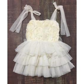 Vestido De Bebe Niña Tul Tutu Talla 3 Años Bautizo Nuevo