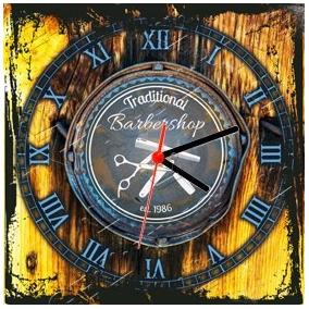 de4369c9e34 Relógio Vintage King Mdf 27x27 Barber Shop Cloqbc.0053. R  29 98