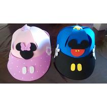 Gorros De Goma Eva - Mickey Y Minnie