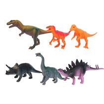 Coleção Dinossauros 6 Unidades 15 Cm Multikids - Br354