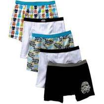 Star Wars Paquete 5 Calzones T-4 Boxers Disney Envío Gratis
