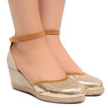 Sandália Anabela Zariff Shoes Espadrille 751-18669 | Zariff