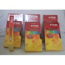 Cassette Virgen Vhs-t120 Tdk Nuevos En Celofan X 10 Unidades