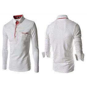 Camisa Polo Inglaterra Moda Top Slim C  Bolso Manga Comprida. 3 cores. R  29  98 928d384ba663c