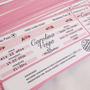 Invitacion Ticket Avion Entrada Recital Futbol 15 Años