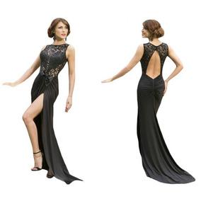 Vestido De Fiesta Elegante Extra Largo Nuevo!!