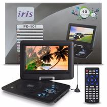 Dvd Portátil Tv 10 Tela Lcd Usb Fm Mp3 Bolsa Carregar Carro