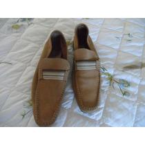 Sapato Em Camurca Italiana, Samello, N0 43,