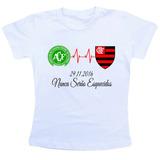 Camiseta Baby Look Feminina Chapecoense Flamengo