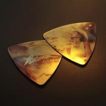 3x2 Púas Metálicas Personalizada Guitarra Plumilla Acero