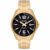 Relógio Oriente Automatico Dourado Mostrador Preto