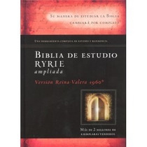 Biblia De Estudio Ryrie Ampliada Tapa Dura C/indice. Rvr60