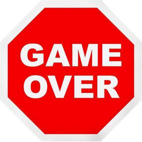 Placa Decorativa Game Over