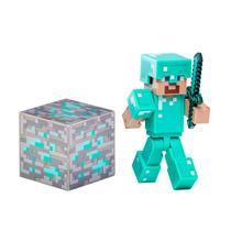 Figura Acción Minecraft Steve Armadura Diamante Geekend