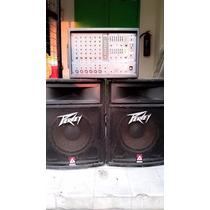 Mixer Yamaha Emx 66m Y Bafles Peavey Tls 2