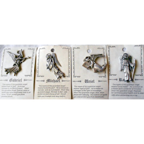 Pin De Pewter Genuino Jonette Artifacts Set 4 Arcángeles Vbf