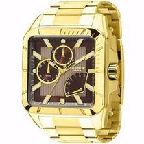Relógio Technos Masculino Legacy Quadrado Dourado Jr00am/4m