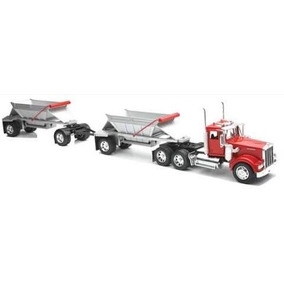 1:32 Trailer Gondola Full Kenworth W900 Rojo A Escala