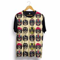 Camisa Blusa Caveira Capacete Moto Skull Rock Skate Preta