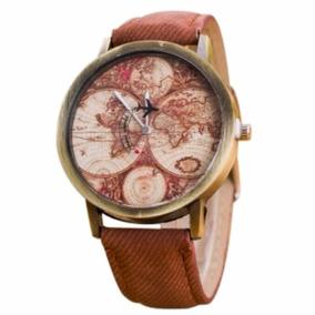 Reloj Mapamundi Vintage Envio Gratis Avion Mundo Viajeros