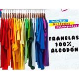 Franelas Unicolores Publicitarias Algodon