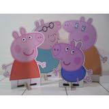 Peppa Pig Kit 4 Display De Chão Festa Madeira Mdf Frete Grat