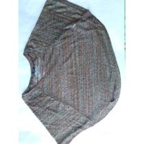 Blusa Para Dama Croptop Detalles Dorado Y Transparente
