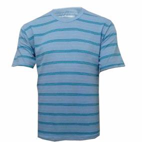 Camiseta 100% Algodão Listrada L 16