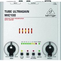Pre Amplificador Behringer Mic100 Microfono Bulbos Ultragain