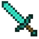 Espada Minecraft Eva Diamante 45 Cm Pronta Entrega