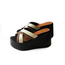 Sandalias Zapatos Mujer Zueco Sueco Plataforma Tiras Fajas