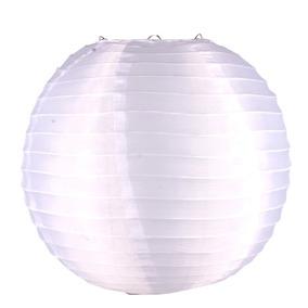 Luminária Japonesa Chinesa Oriental Tecido Nylon Branca 35cm
