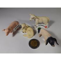 Lote Figuras Schleich Animales De Granja Borregos, Lechones